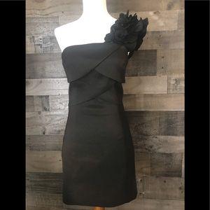 OLIVIA BLACK ONE SHOULDER DRESS STUNNING SIZE 0